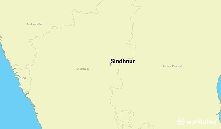 map showing the location of Sindhnur