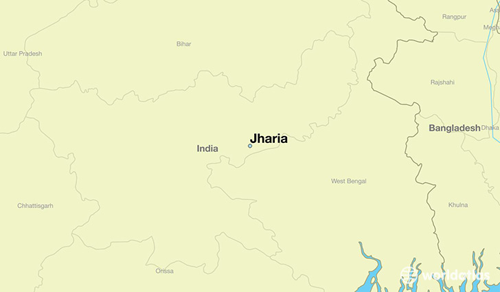 map showing the location of Jharia