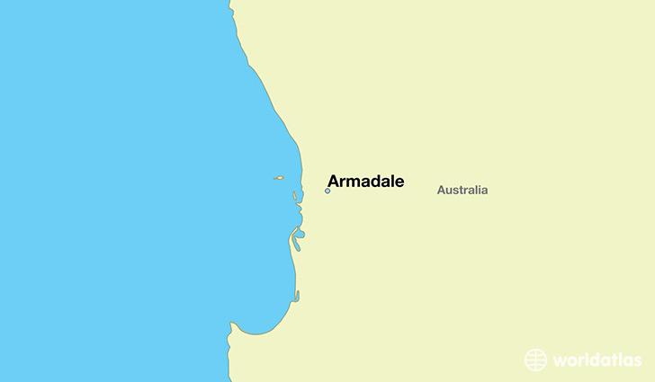 map showing the location of Armadale