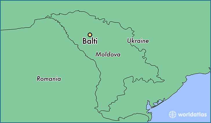 map showing the location of Balti