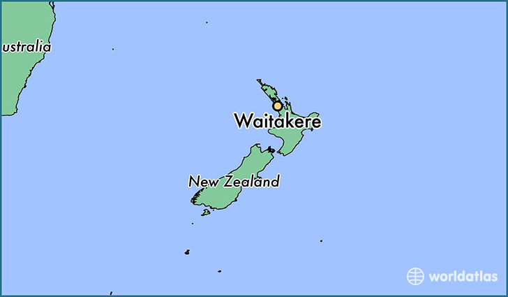 map showing the location of Waitakere