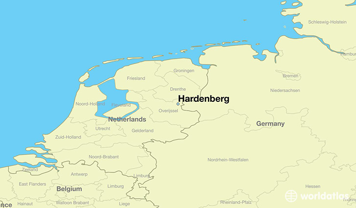map showing the location of Hardenberg
