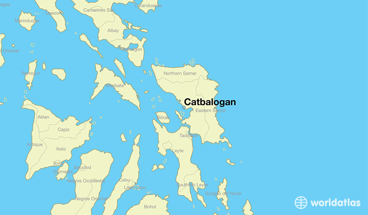 map showing the location of Catbalogan