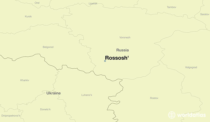 map showing the location of Rossosh'