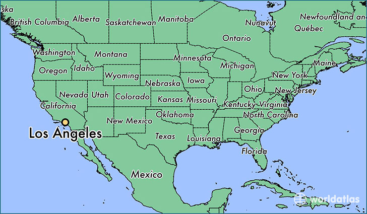 Where is Los Angeles CA Los Angeles California Map WorldAtlascom