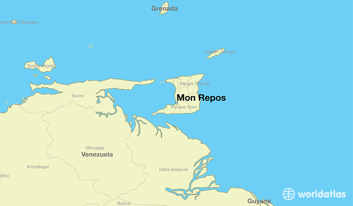 map showing the location of Mon Repos