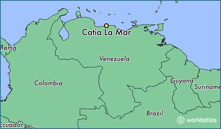 map showing the location of Catia La Mar