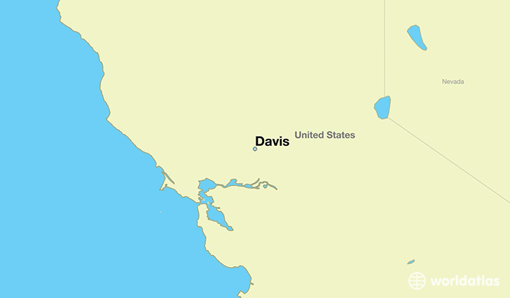 map showing the location of Davis