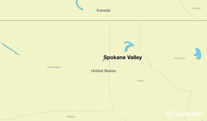 Where is Spokane Valley WA Spokane Valley Washington Map