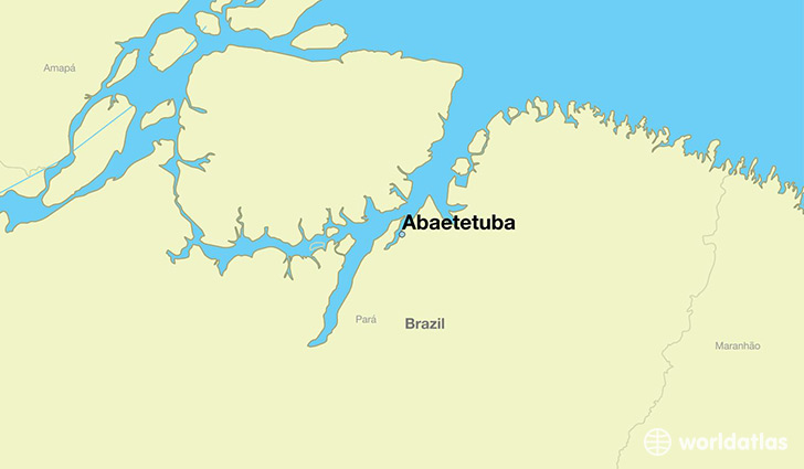 map showing the location of Abaetetuba