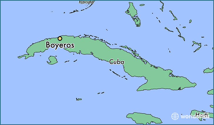 map showing the location of Boyeros