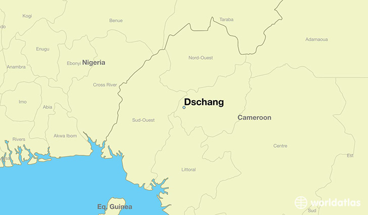 map showing the location of Dschang