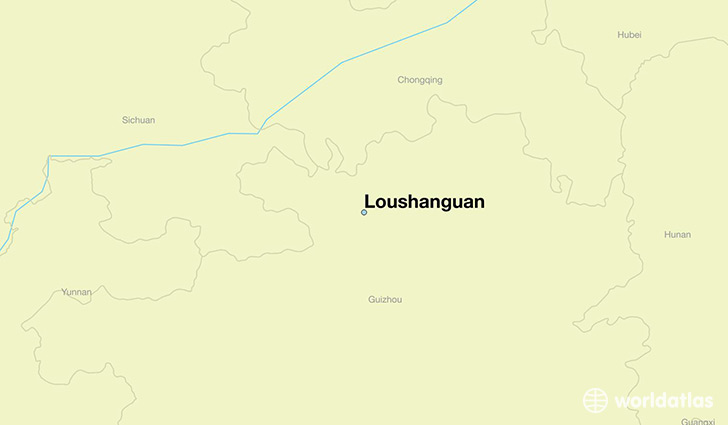 map showing the location of Loushanguan