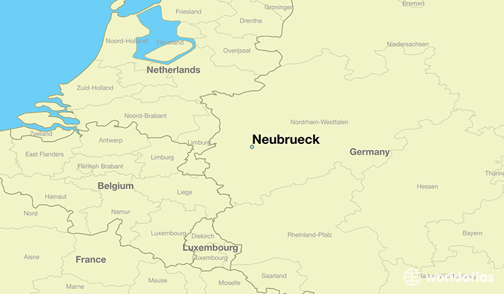 map showing the location of Neubrueck