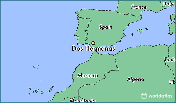 map showing the location of Dos Hermanas
