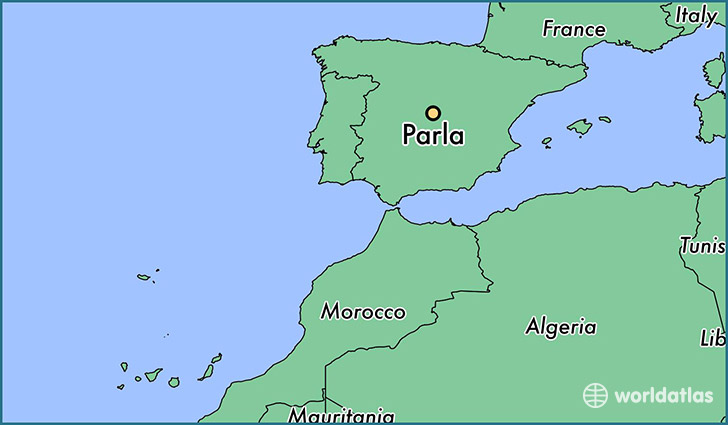 map showing the location of Parla