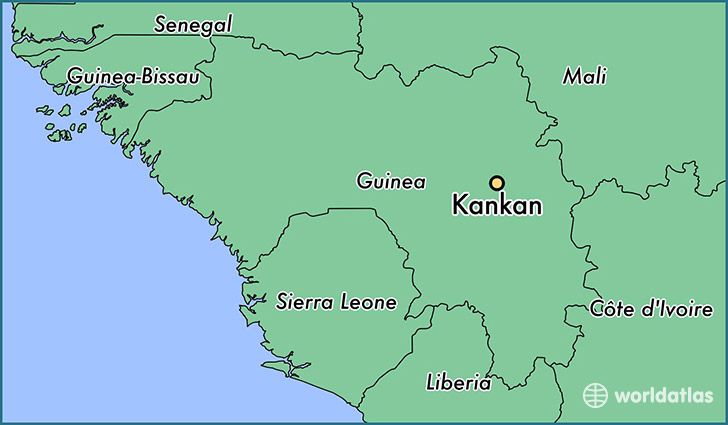 map showing the location of Kankan