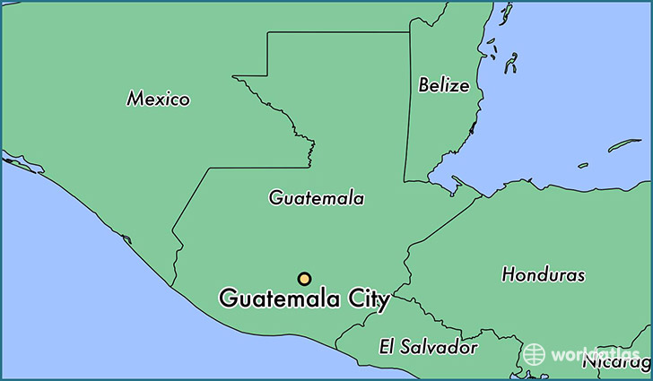 map showing the location of Guatemala City