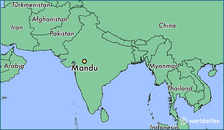 map showing the location of Mandu