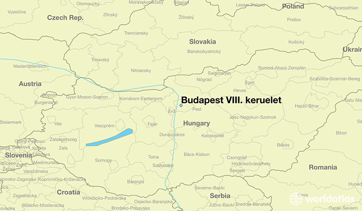 map showing the location of Budapest VIII. keruelet