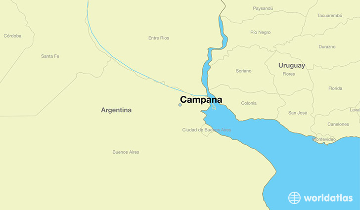 Buenos Aires Location On World Map.Where Is Campana Argentina Campana Buenos Aires F D Map