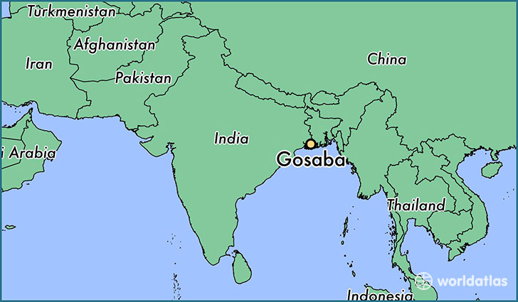 map showing the location of Gosaba