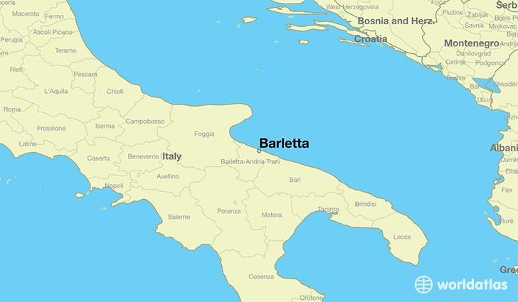 map showing the location of Barletta