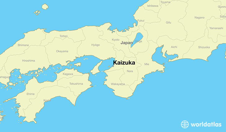 map showing the location of Kaizuka