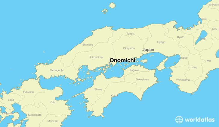 map showing the location of Onomichi