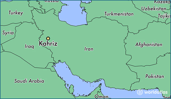 map showing the location of Kahriz