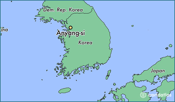 map showing the location of Anyang-si