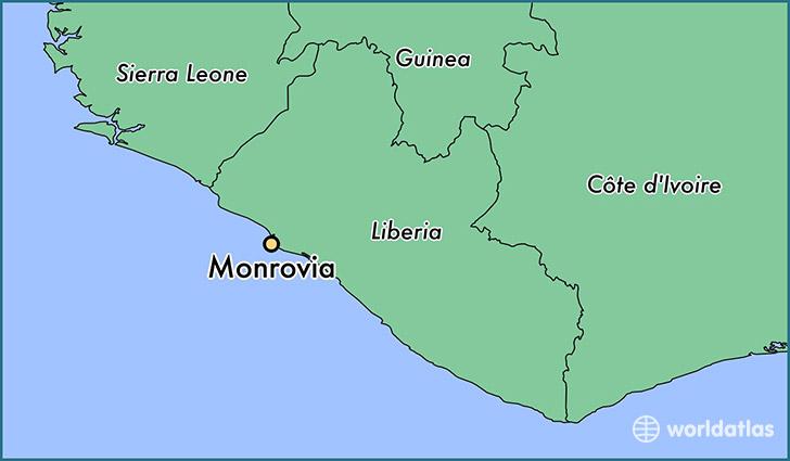 Map Of Monrovia Africa Map Of Africa: Monrovia Africa Map