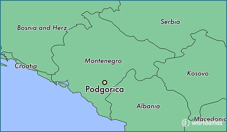 Where Is Podgorica Montenegro Podgorica Podgorica Map - Where is montenegro