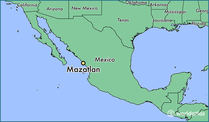 map showing the location of Mazatlan