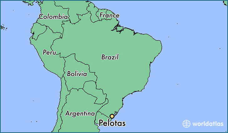 map showing the location of Pelotas