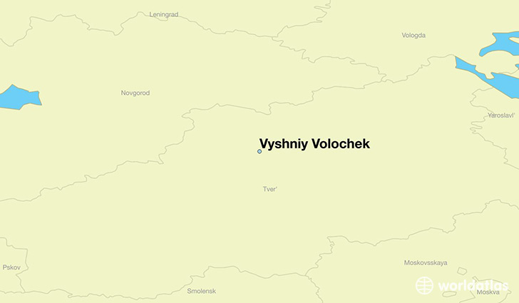 map showing the location of Vyshniy Volochek