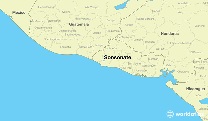 map showing the location of Sonsonate