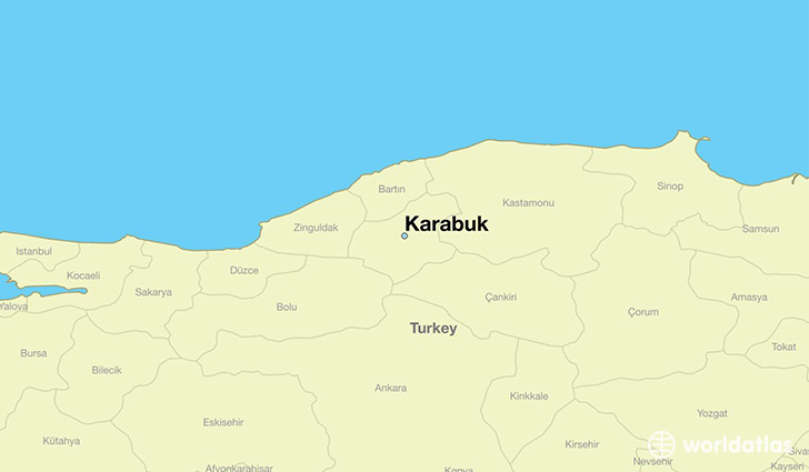 map showing the location of Karabuk