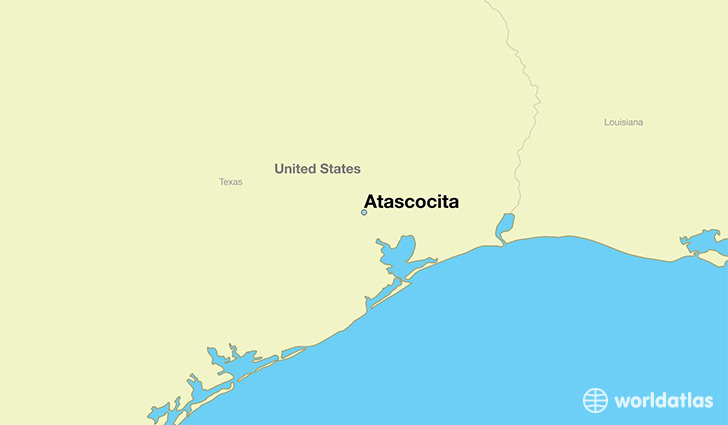 map showing the location of Atascocita