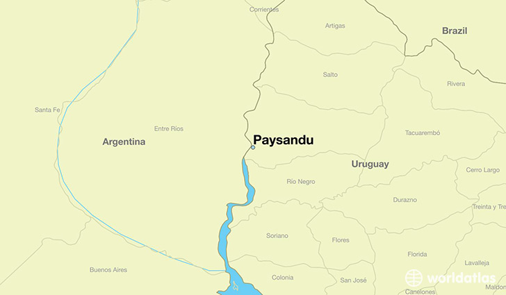 map showing the location of Paysandu