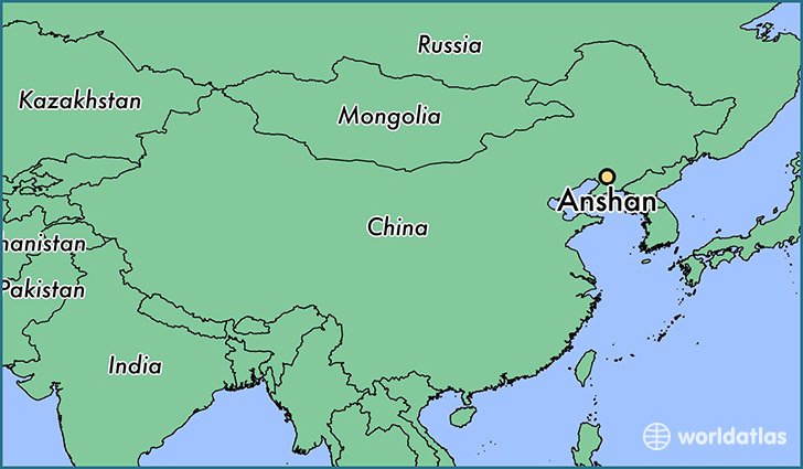 map showing the location of Anshan