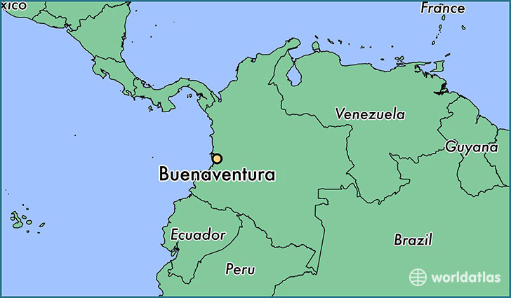 map showing the location of Buenaventura