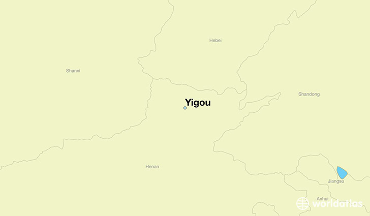 map showing the location of Yigou