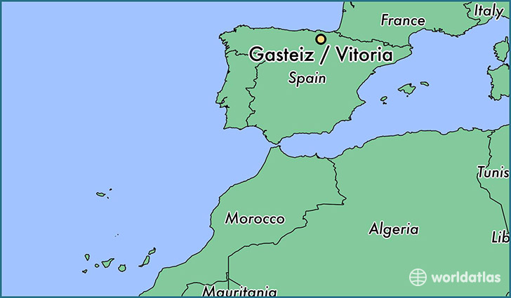 map showing the location of Gasteiz / Vitoria