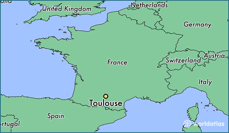 where is toulouse france toulouse midi pyrenees map. Black Bedroom Furniture Sets. Home Design Ideas