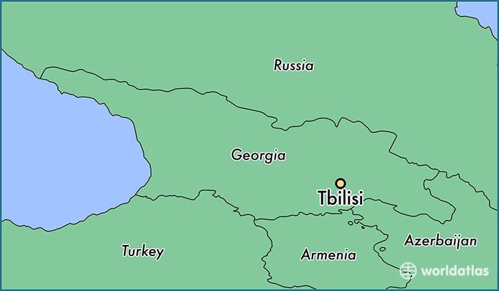 Where Is Tbilisi Georgia On World Map
