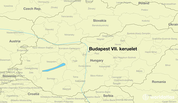 map showing the location of Budapest VII. keruelet