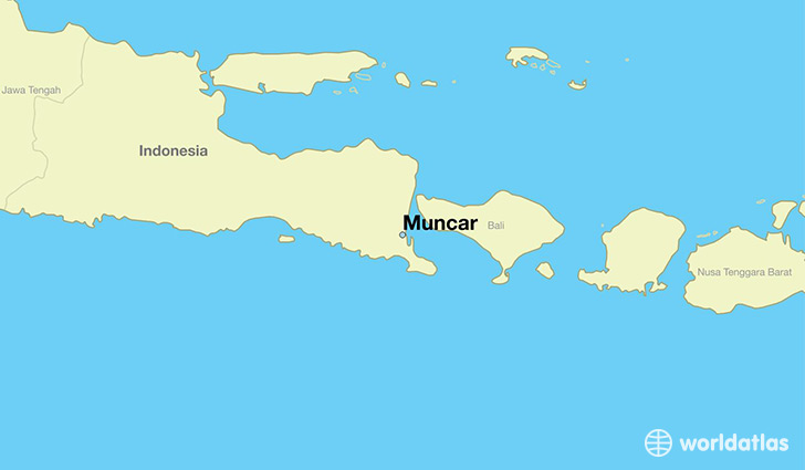 map showing the location of Muncar