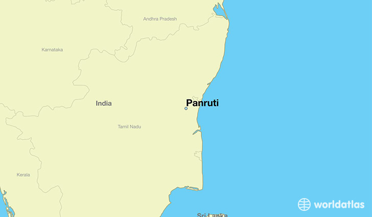 map showing the location of Panruti