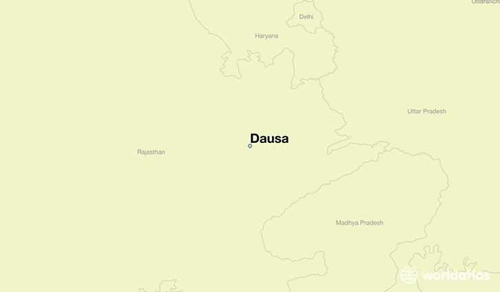 map showing the location of Dausa